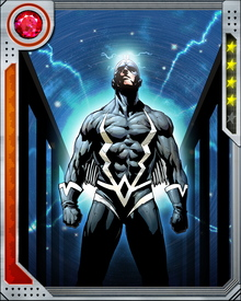 The powers of Black Bolt's voice come from a particle generated in his brain that taps and amplifies the energy of nearby electrons. This particle also gives him the power to fly by surrounding himself with a field of anti-gravitons, and generate bursts of particle energy.