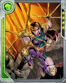 Marrow is able to use her own bone material to create weapons and armor. She possesses a healing factor so powerful that it allows her to constantly deplete and replenish her bone structure. Her traumatic early life has left her with permanent trust issues, but she has formed a bond with Gambit and also looks up to Storm and Angel.