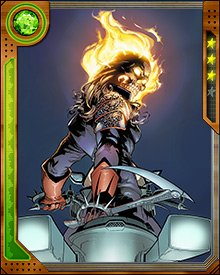 During the Serpent's attack on Earth, Alejandra Blaze was chosen to be the new Ghost Rider. Her first adventure as the Spirit of Vengeance involved fighting the Red Skull's daughter, Sin. Then, under the tutelage of the former Ghost Rider Johnny Blaze, she set off to learn about her newfound powers.