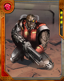 A robotic version of Deathlok was created by Dr. Harlan Ryker at Brand Industries, working for Roxxon. The Thing and Quasar destroyed this version, but Ryker created more, implanting each with different uploaded personalities. The original Deathlok has faced down copies of himself on numerous occasions
