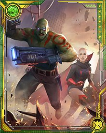 For a time, both Drax and Moondragon were on the Guardians of the Galaxy roster. It was a long way from the deserts of Nevada, but they finally got their family reunion.