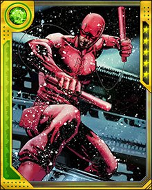 Daredevil has tinkered with his signature batons over the years, adding grappling hooks and cables. The batons can be used individually or joined into a staff to take advantage of Daredevil's expertise in stick fighting.