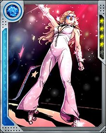 Dazzler had a growing musical career until she publicly declared her mutant nature in the face of anti-mutant sentiment. Relegated to a backup role in a friend's band, she survived a plane crash and met other mutants including Cannonball in the aftermath.