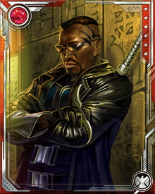 After the Civil War, Blade joined the Vanguard, a secret team of supernatural hunters. When they were disbanded, he returned to the United Kingdom and continued hunting monsters for MI-13. Most recently, he has found himself in a conflict with the X-Men over the vampirically stricken character Jubilee.