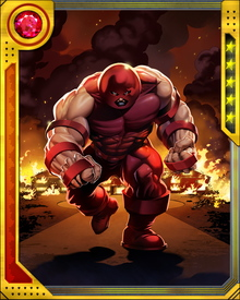 Two men are currently known as Juggernaut. The original is Cain Marko, a long time enemy and occasional ally of the X-Men. He is frequently imprisoned in mystic realms to halt his rampages.