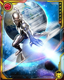 Able to manipulate and control fundamental forces of the universe, Silver Surfer can generate destructive beams of energy.
