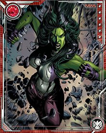 Instead of obliterating Man-Thing with the Absolute Annihilator, She-Hulk and her team deprived the creature of energy by mastering their own fears. In her case, she overcame her insecurities and resolved to continue fighting for this world, no matter what the odds.