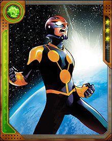 Sam Alexander needed some help to get used to his new role as Nova. He trained with Uatu the Watcher, and during one such session, he learned of the existence of Uatu's weapons cache—and also that his father, Jesse Alexander, was alive somewhere in the universe.
