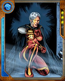 "Part of Phyla-Vell's new self-identification as ""The Martyr"" has led her to try to destroy Adam Warlock, but space-time manipulations by the Magus have made this impossible—and often made it seem as if Phyla-Vell was dead."