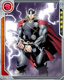 Armed with Mjolnir, Thor is a hero feared by many, including the Hulk. His command of the Mjolnir, coupled with his physical strength and energy manipulation skills, makes him a reckonable opponent not to be trifled with.