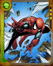 """""""With great power comes great responsibility."""" is the motto Spider-Man follows, given to him by his uncle."""