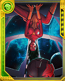 Spider-Woman is one of a number of heroes who have been captured and replaced by Skrull impostors during the course of the Secret Invasion. Now that she's been liberated, and helped the Avengers fight back against the Skrull, she's a more or less permanent member of the team. One of her abilities that comes in handy is her senses, which are sharp enough to detect a Skrull in disguise.