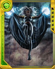 Storm's weather powers cannot create something from nothing. If she brings rain to one area, she must take moisture from another... but to save lives, that's what she'll do.