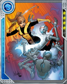 Teenage genius Katherine Pryde manifested her mutant powers during a visit from Emma Frost, and was then brought into Xavier's school. She is particularly close to Storm and Magik, and has had unsuccessful romances with Colossus and Pete Wisdom.