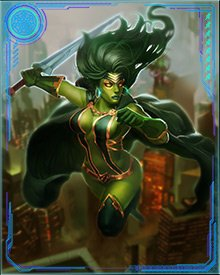 After the Annihilation Wave was repelled and Annihilus was destroyed, Gamora joined the new Guardians of the Galaxy. She helped them battle Thanos and later worked with with Winter Soldier when he was investigating the death of Uatu the Watcher.