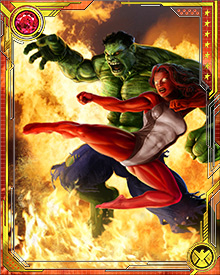 "Red She-Hulk is the daughter of one of the Hulk's greatest enemies--General ""Thunderbolt"" Ross. To further complicate their relationship, Betty's father has ""hulked out"" himself, becoming the Red Hulk!"