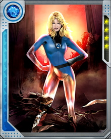 The psionic invisible force fields created by Invisible Woman can be changed into other shapes and depending on the shape, can be used as offensive weapons.