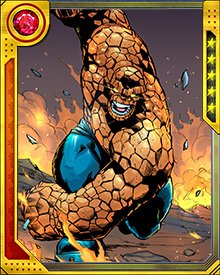 "The Thing is the good-natured heart and soul of the Fantastic Four, but when it comes to a fight, he's a tough-as-nails bruiser who does not know the meaning of the word ""quit""."