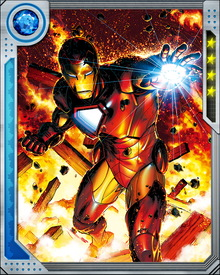 Due to his membership in the Illuminati, Iron Man was given the Space Infinity Gem to safeguard. The gem allows the user to exist in any location (or all locations), move any object anywhere throughout the universe and warp or rearrange space. As with the other members of the Illuminati and their respective gems, Iron Man vowed not to use it on any occasion.