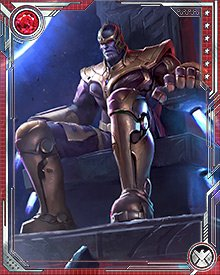 Thanos' son, Thane, encased him in an amber-like block after the destruction of Attilan and the war between the Avengers and the Cull Obsidian. Then Thane disappeared with one of the surviving members of the Cull Obsidian...and eventually Thanos escaped his prison.