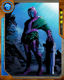 Product of an alternate timeline, Kang rebuilt an abandoned time machine at an early age and has since journeyed from Ancient Egypt to the 40th century. Along the way he has battled everyone from Apocalypse to the Avengers.