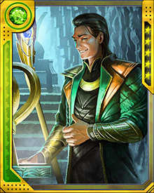 Loki prefers to fight with his wits and his magical abilities, but there are times when only physical combat is possible. For those times, he has a sceptre possessing a number of magical properties... and a sharp point.