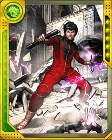 Son of the sorcerer Fu Manchu, Shang-Chi rebelled against his father's empire and became perhaps the greatest practitioner of martial arts the world has ever seen. He recently joined the Avengers after spending time with MI-6.