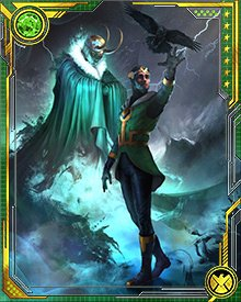 For a time, the adult Loki's spirit was contained in a magpie known as Ikol. After the killing of young Loki and the madness of King Loki, the original Loki returned, with a new sense of him/herself as God/dess of Stories.