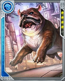 Although he's not really a dog, Lockjaw displays some of the finest qualities of dogs. He is loyal to a fault, never gives up, and will lay down his life for those he cares about without a second thought. He's also big and strong enough that he can carry the rest of the Inhumans on his back if need be, or teleport them anywhere.