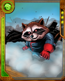 Captain of a star faring band of animal people who left behind their previous role as Guardians of the Loonies of Halfworld, Rocket Raccoon abandoned his role as Guardian of the Keystone Quadrant after the revolution that cured the Loonies and destroyed their oppressors.