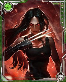 When under the influence of a trigger scent, X-23 becomes a single-minded killing machine. She attacks with such ferocity that not even the Hulk can stand up against her; once, in the grip of the trigger scent, she mutilated him and clawed out his eyes.