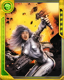 Silver Sable has saved Spider-Man's life, and bears unrequited romantic feelings for him. She fought with him to defeat Doctor Octopus and the Sinister Six.