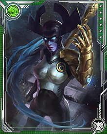 Proxima Midnight attacked Wakanda in search of an Infinity Gem for her master, Thanos. The Wakandans had withstood Black Dwarf's assault, but she would brook no resistance.