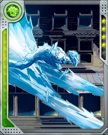 Iceman doesn't just get cold; he gets as cold as it's possible to get, reducing the temperature of his body to absolute zero at will. He is an Omega-level power, able to control temperature so completely that he can even inhibit the explosion of a nuclear bomb.
