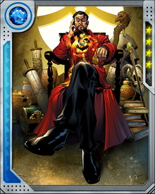 The Vishanti are a triad of extra dimensional mystical beings... or perhaps three aspects of the same being. They manifest as Oshtur, Agamotto, and Hoggoth. Each of them has granted Doctor Strange powerful artifacts that enhance his magical abilities.