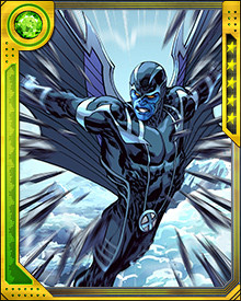 His new cybernetic wings are powerful offensive weapons, able to fire out individual shard-like feathers. Archangel can control each and every one of them with his mind, but as he gets more emotional it's easy for him to lose track of some of them.