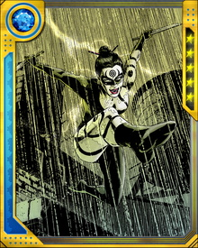 Lady Bullseye has no apparent superhuman powers. She is a superbly trained combatant, and proficient in any number of traditional weapons. During Norman Osborn's Dark Reign, she executed Osborn's plan to draw Daredevil out and provoke him into a last fight with Bullseye. This was a grudge mission for her, since Daredevil had at that time kicked her out of the Hand and taken the order over himself.
