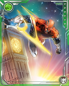 After Captain Britain's death and rebirth, Merlyn took his magical tinkering a step further, imbuing Captain Britain's body with his powers and transforming Captain Britain's costume into a reservoir of interdimensional energy.