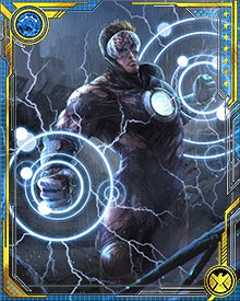 Full discharge of Havok's energy reservoir is comparable to the explosion of an atomic weapon. He is constantly recharging, and even reabsorbing energy from the lingering traces of the energy blasts he has just emitted.