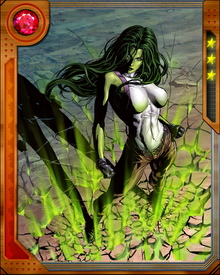 At first she transformed from her normal self to the She-Hulk, she realized she can control herself and started to stay as the She-Hulk.  She retains the powers of the Hulk.