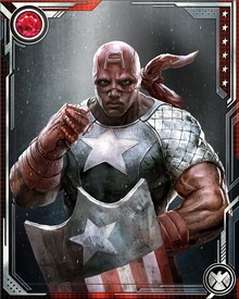 Isaiah Bradley was one of 300 African-American soldiers subjected to clandestine experimentation with a variant of the super-soldier serum that turned Steve Rogers into Captain America. He was the only survivor of those experiments. During the European campaign, he infiltrated and destroyed a Nazi super-soldier facility while wearing Captain America's costume. Because he went AWOL to do this, he was court-martialed and imprisoned after escaping a Nazi prison camp.