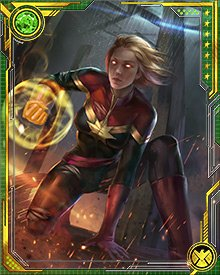 Even after all of her military and tactical training, and her experiences with cosmic entities and the other dimensional enemies of humankind, Captain Marvel doesn't rely much on external technology. Her own cosmic power is all she needs.
