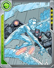 Iceman can't fly, but he can do the next best thing—tap atmospheric moisture to create an icy path through the skies, which he surfs at astonishing speeds.