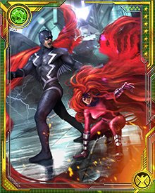 Black Bolt and Medusa are the king and queen of the Inhumans. While Black Bolt cannot speak without risking great destruction, Medusa serves as his voice to their people.