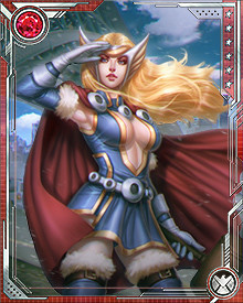 Jane Foster picked up Mjolnir to fight Malekith and the Absorbing Man after Thor lost the ability to wield the hammer for unknown reasons. At first her identity was unrevealed, but once Thor realized he could no longer hold Mjolnir he relinquished his name and Jane Foster became known as Thor, while the former Thor took the name Odinson.