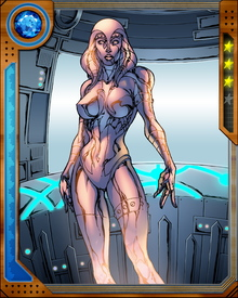Wishing for a partner, Ultron brainwashed Hank Pym into replicating the mind of his wife Janet so Ultron could install it in a robot body of his own creation. The result was Jocasta, who then betrayed Ultron and became an ally of the Avengers instead.