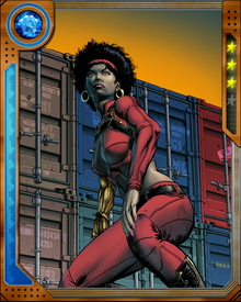 Misty Knight was seriously injured preventing a bomb attack back when she was a police officer with the NYPD. Although her right arm was amputated, Tony Stark provided her a bionic arm, constructed from steel, which endowed her with superhuman strength
