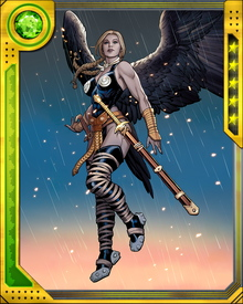 A long-time member of the Defenders, Valkyrie has also fought with the Avengers during times of greatest need. She led an army against Sin and Cul the Serpent, and with the Fearless Defenders faced off against the corrupted valkyrior known as the Doom Maidens.