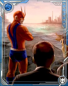 After the defeat of Norman Osborn and the Dark Avengers, Hank Pym started the Avengers Academy—and reclaimed his Giant Man identity. The Academy admitted young super humans who had begun to fall under Osborn's sway.