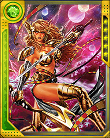 Angela was born Aldrif Odinsdottir, the daughter of Odin and the sister of Loki and Thor. During a terrible war between Heaven and Asgard, the infant Angela was taken by Heaven to be raised as one of the angels. She only recently discovered her true origins.